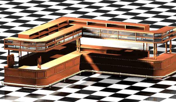 free c4d mode victorian bar counter