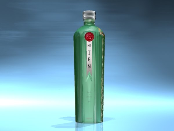 3d tanqueray bottle