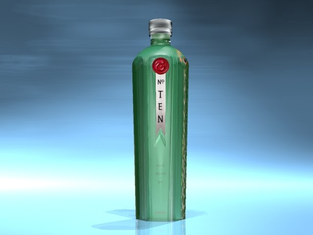 3d tanqueray bottle