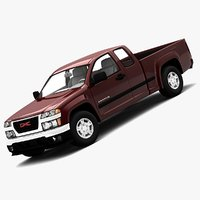 gmc canyon 2006 extended 3d model