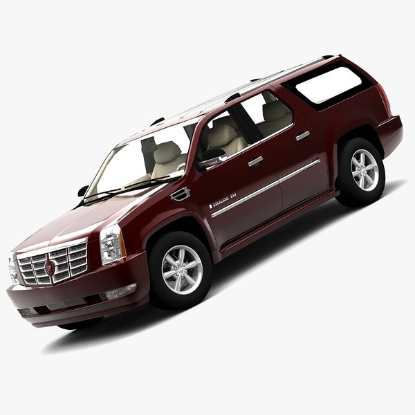 3d model cadillac escalade esv 2007