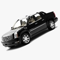 cadillac escalade ext 2007 3d model