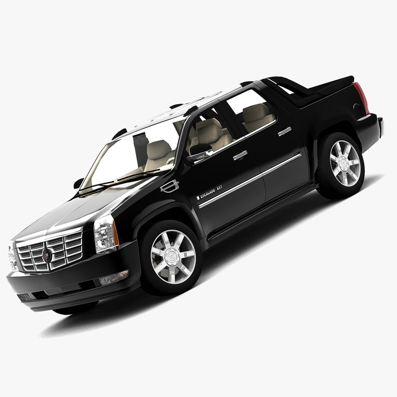 cadillac escalade ext 2007 3d model