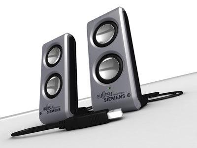set usb mini speakers 3d model