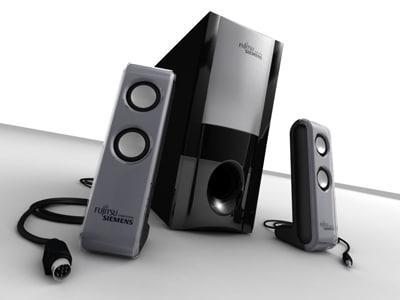 speakers subwoofer 3d max