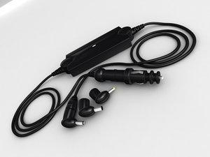 car power adapter 3d max