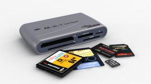 3d model all-in-one card reader