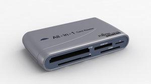 3d model of fsc card reader