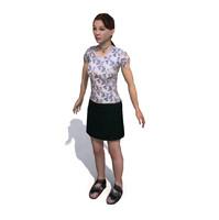 human character female 3d model