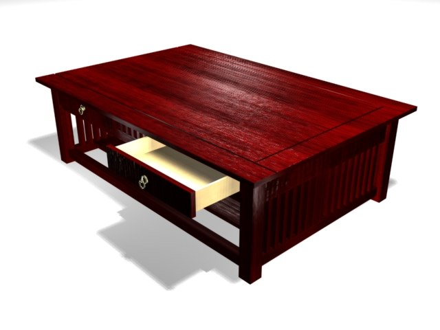 3d model of mahogany table african
