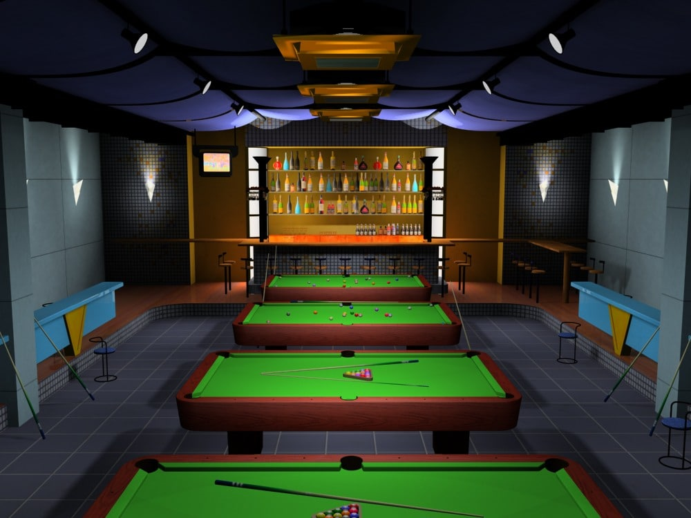 billiards bar snooker 3d model