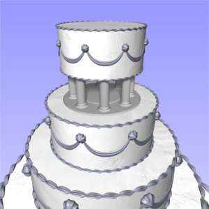 3ds wedding cake