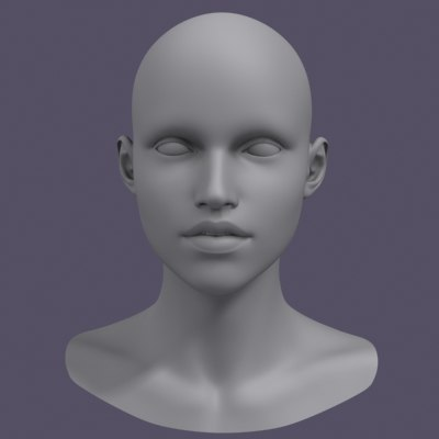 female head 3d model
