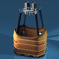 basket balloon gas tanks 3d model