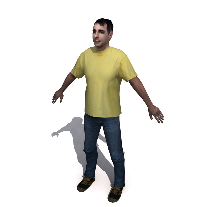 3d human character model