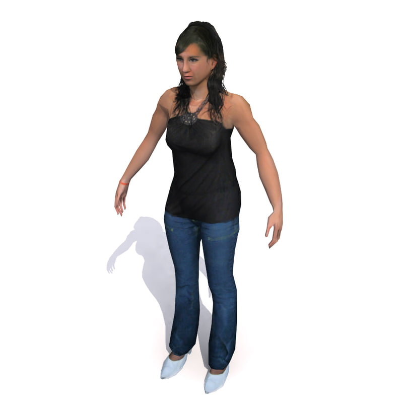 3ds max human character female