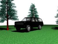 3d offroader truck chevy suburban model