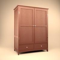free tv armoir metropolitan 3d model