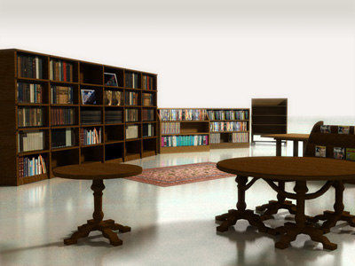 3d library tables