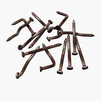 rusty nails rust 3d model
