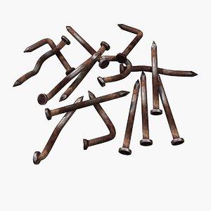 rusty nails rust 3d model