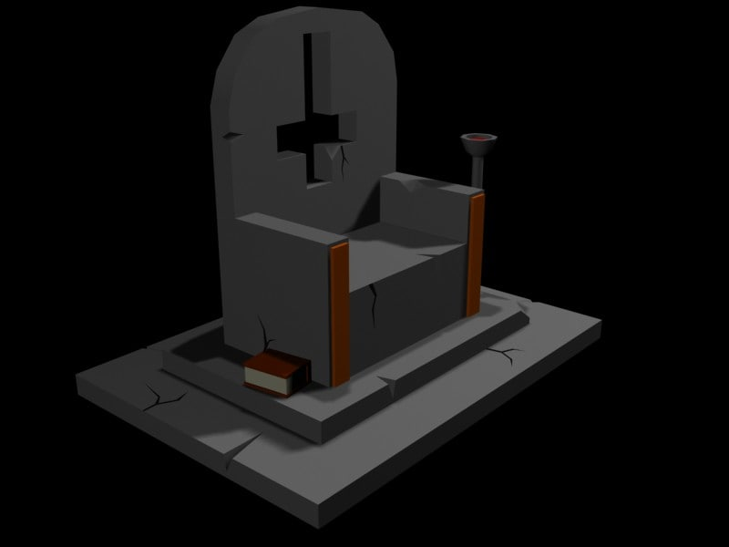throne tomb tombstone 3d 3ds