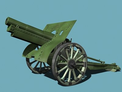 russian howitzer wwi 3d model