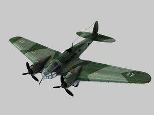 heinkel 111 german aircraft 3d model