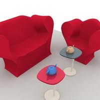 composition sofa big easy 3d model