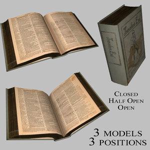 books open closed 3d 3ds