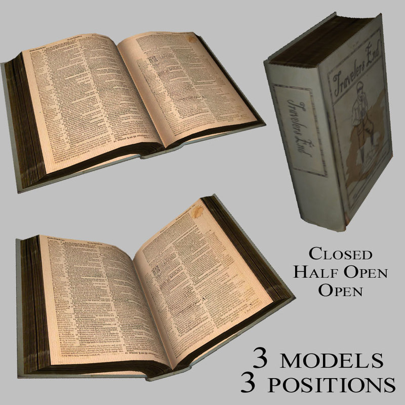books open closed 3d 3ds