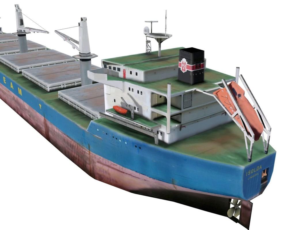 3ds max realtime bulk carrier