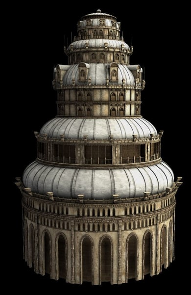 3d model fantasy tower