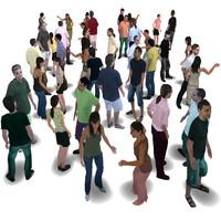 human characters 3d model