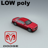 dodge charger rt 3d model