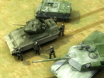 3d model infantry military tank