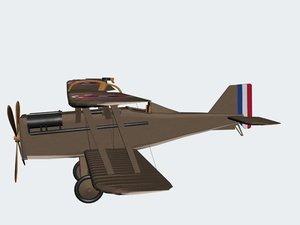 royal aircraft factory se5a 3d model
