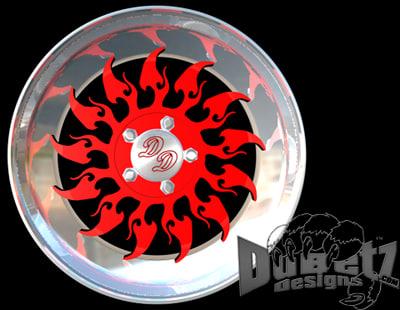 designs tribal wheel 1 3d model