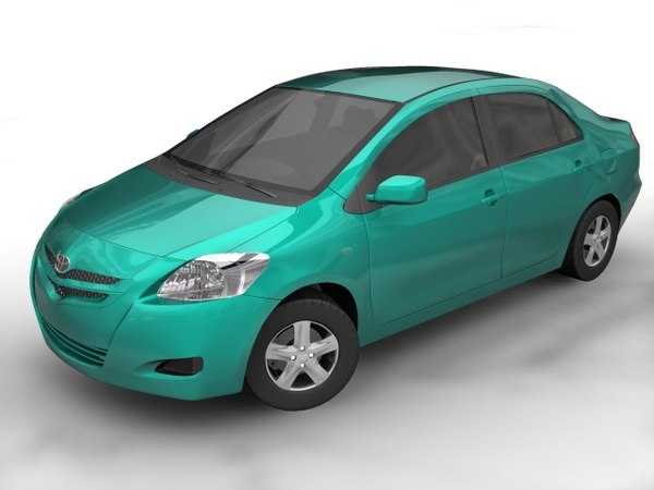 toyota yaris sedan 3d model