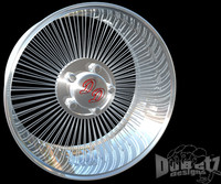 3d wheels spokes rims dd model