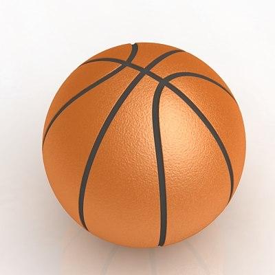 basketball balle 3d model