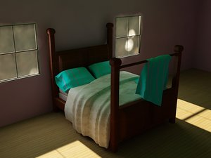 3ds max bedding