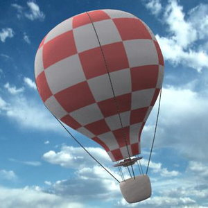baloon airship 3d model