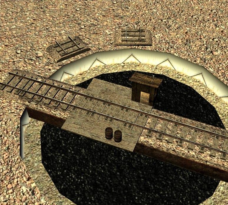 3d model turntable train