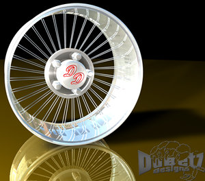 wheels spokes rims dd 3d model
