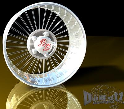 wheels spokes rims dd 3d model
