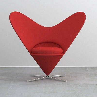 3ds max heart cone chair