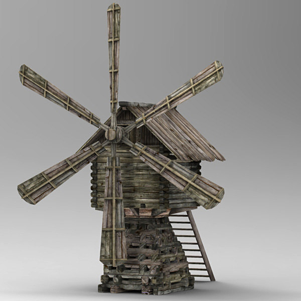 old windmill 3d model