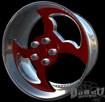 3 wheels tribal center 3d c4d