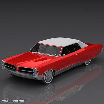 3d model pontiac bonneville parisienne 1965